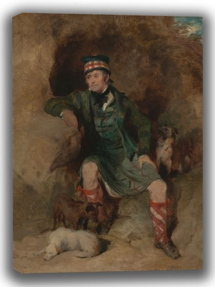 Landseer, Sir Edwin: Donald McIntyre. Fine Art Canvas. Sizes: A4/A3/A2/A1 (003936)